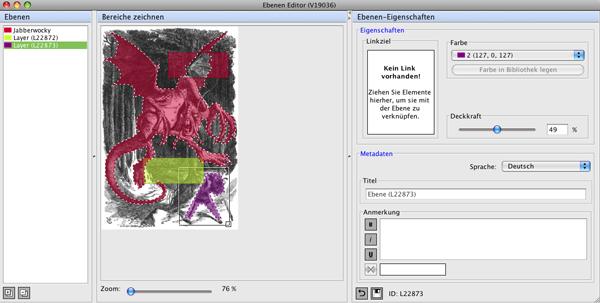 Das Ebenen-Editor-Fenster
